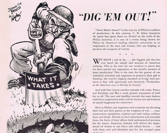 Must See WW2 1942 Victory Cartoon or Paramount Victory Parade Movies Old Advertisement