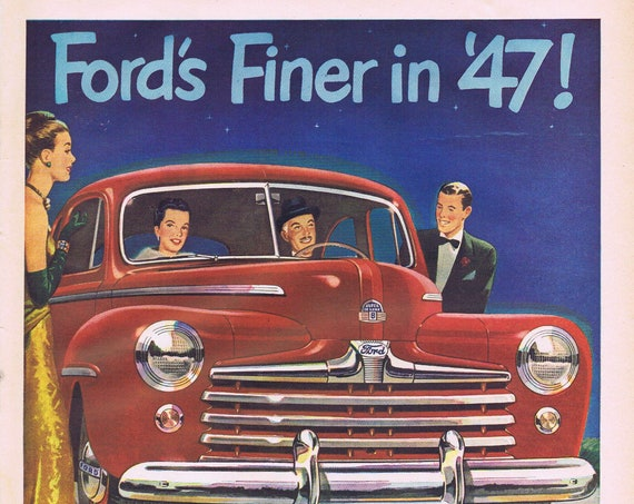 1947 Classic Ford Automobile Old Ad