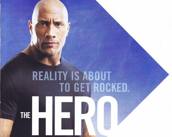 "Dwayne ""The Rock"" Johnson July 16 2013 TNT Premiere Four Page Series Advertisement"