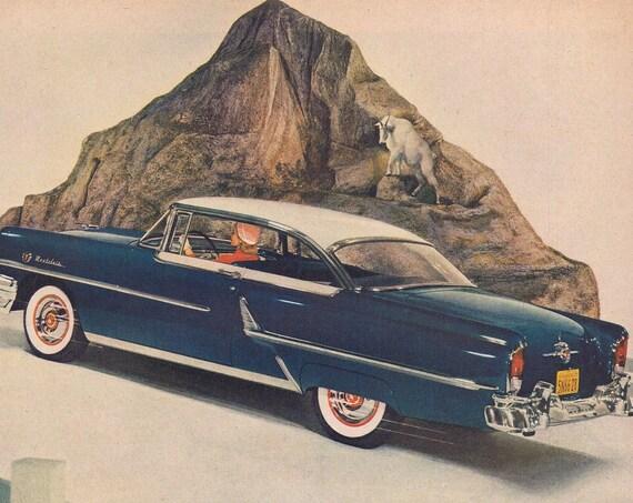 1955 Mercury Montclair Sports Coupe Original Vintage Advertisement