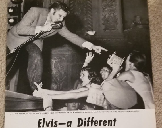 1956 Elvis Presley a Different Kind of Idol Original Vintage Feature with Great Photos
