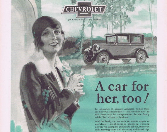 Get a Car for the Wife Too 1927 Chevrolet Old Automobile Advertisement Fred Mizen Art