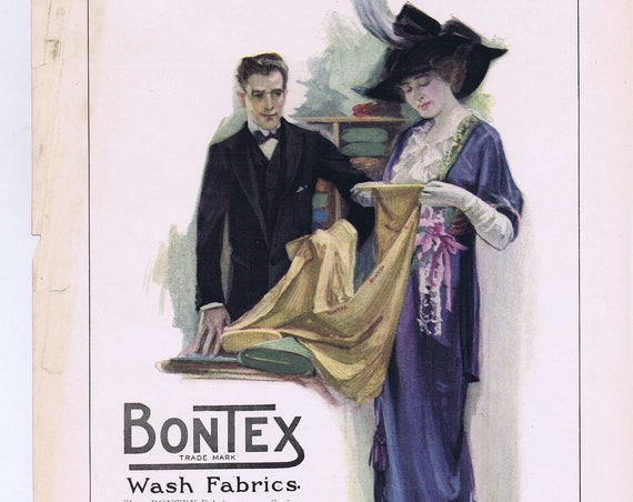 1914 Bontex Wash Fabrics by H.B. Claflin Co. Original Vintage Advertisement
