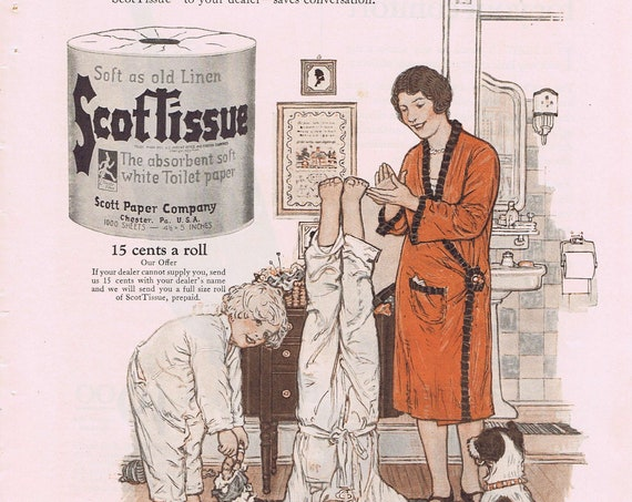 1927 General Electric Vacuum or Scot Tissue Old Ad