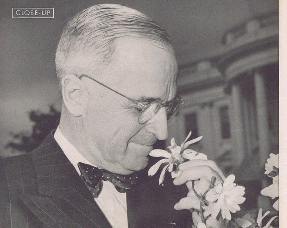 President Harry S. Truman 1946 One Year in Office Magazine Photo and Vintage Feature