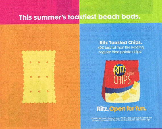 Ritz Toasted Chips Open for Fun 2013 Original Advertisement Free Shipping
