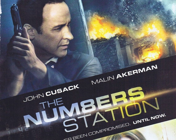 The Numbers Station with John Cusack and Malin Akerman 2013 Movie Advertisement Free Shipping