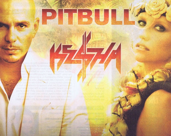 2013 May and June Pitbull and Kesha Concerts Original Advertisement Free Shipping