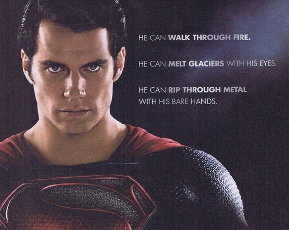 Man of Steel Henry Cavill June 14 Premiere and Gillette Razor Blades 2013 Advertisement