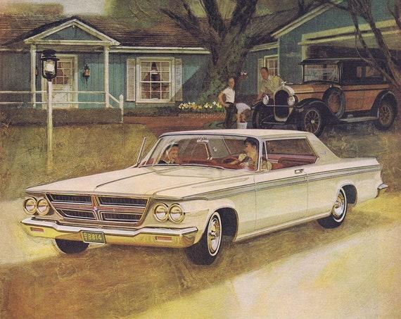 1964 Versus a 1924 Chrysler Automobile Original Vintage Advertisement