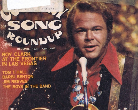 Country Song Roundup December 1975 Magazine with Roy Clark Photo Cover