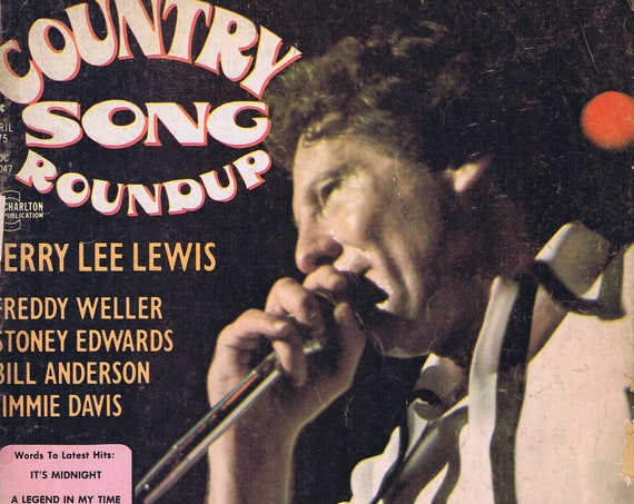 Country Song Roundup April 1975 Magazine with Jerry Lee Lewis Photo Cover