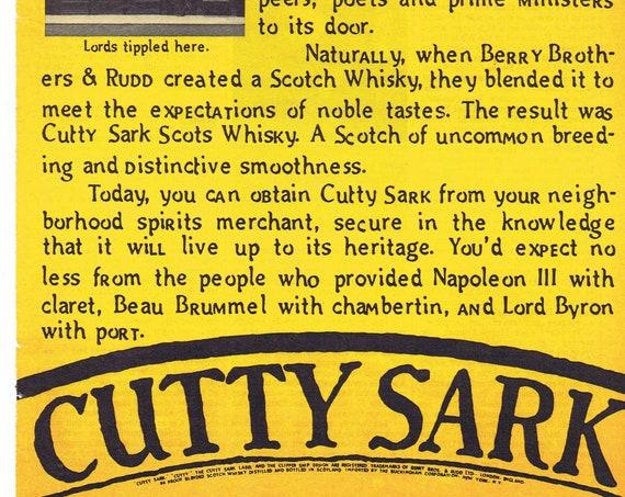 1979 Cutty Sark Scotch Whiskey Original Advertisement