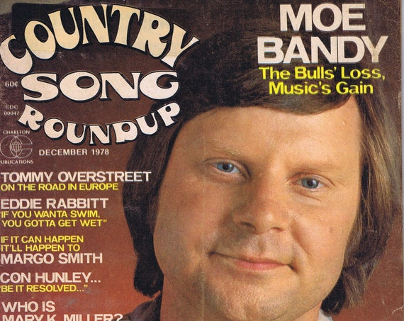 Country Song Roundup December 1978 Magazine with Moe Bandy Photo Cover