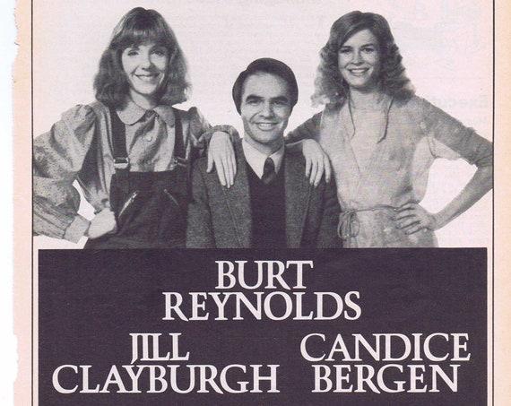 Starting Over 1979 Original Movie Advertisement with Burt Reynolds, Jill Clayburgh and Candice Bergen