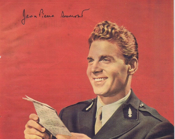 Jean-Pierre Aumont French WW2 Hero and Actor 1944 Picture in Uniform