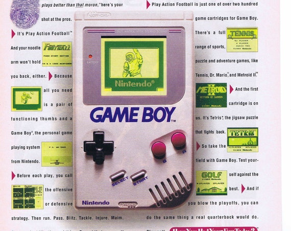 Nintendo Game Boy Football 1992 Advertisement