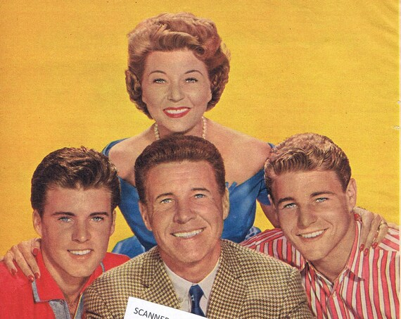 Ozzie, Harriet, David and Rick Nelson Family 1960 Wonderful Magazine Photos and Story