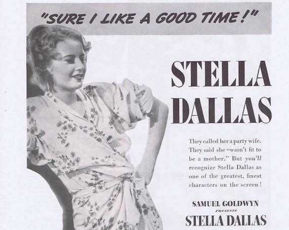 Stella Dallas 1937 Original Movie Advertisement with Barbara Stanwyck