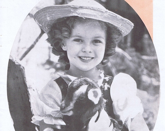 Shirley Temple the Myth 1937 Adorable Magazine Photo and Wee Willie Winkie Premiere Feature