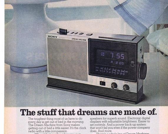 Sony Dream Machine Clock Radio or Tareyton Lights 1979 Original Vintage Advertisement