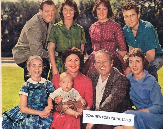 Art Linkletter, Wife Lois and Family 1960 Wonderful Magazine Photo Vintage and Collectible