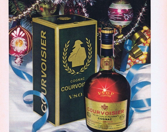 1975 Courvoisier Cognac Brady of Napoleon Vintage Advertisment