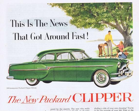1953 New Packard Clipper Sedan Original Vintage Advertisement