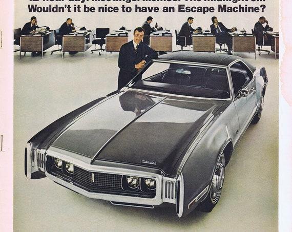 1970 Oldsmobile Toronado Luxury Car Original Vintage Advertisement