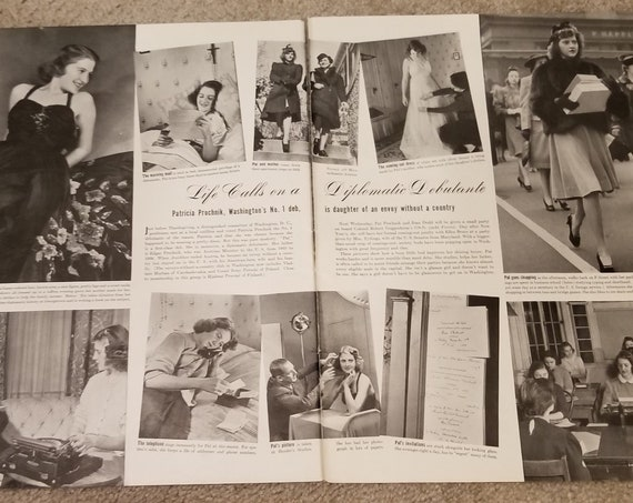 Washington's No. 1 Debutante Patricia Prochnik 1939 Feature with Pictures Life in the 1930s