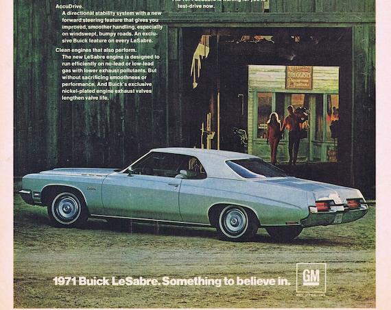 1971 Buick Le Sabre Something to Believe in Original Vintage Advertisement
