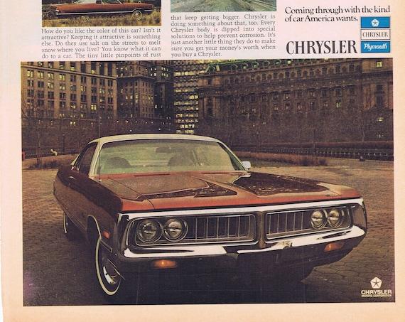 Arthur Godfrey and 1972 Chrysler Automobile Original Vintage Advertisement