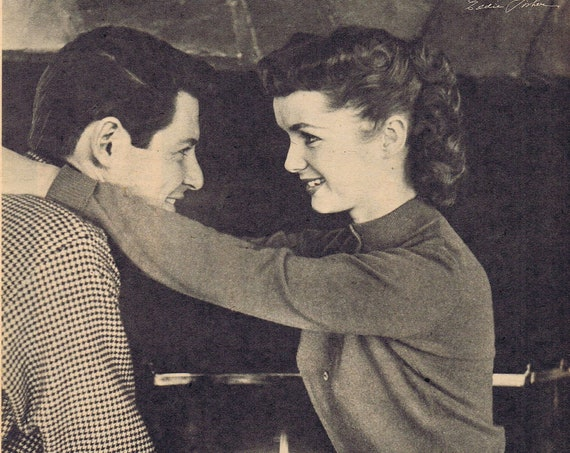 1956 Young Debbie Reynolds and Eddie Fisher or Glenn Ford the Fisherman Vintage Magazine Pictures
