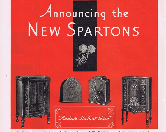 1931 Sparton Old Radios Original Vintage Advertisement with Neat Radio Phonographs