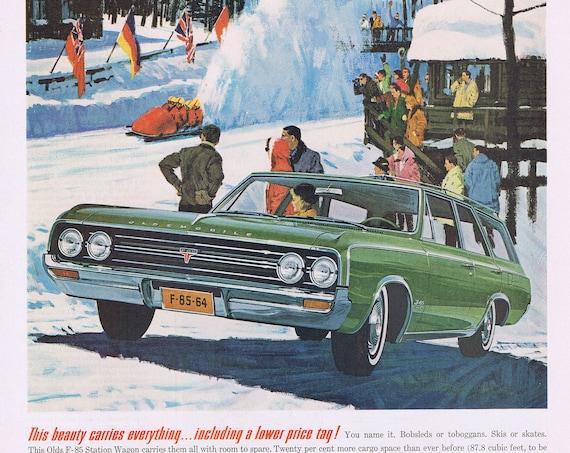 1964 Oldsmobile F-85 Station Wagon Original Vintage Advertisement