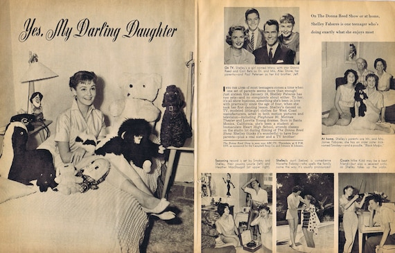 Shelley Fabares of The Donna Reed Show 1960 Original Vintage Feature Story and Pictures