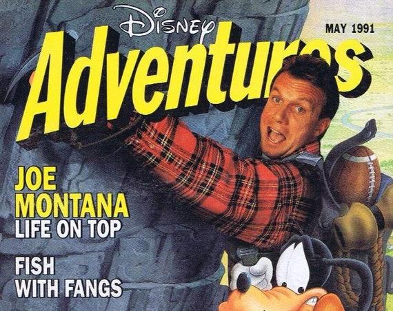 Disney Adventure Magazine May 1991 Joe Montana & Disney's Goofy Cover Very Nice