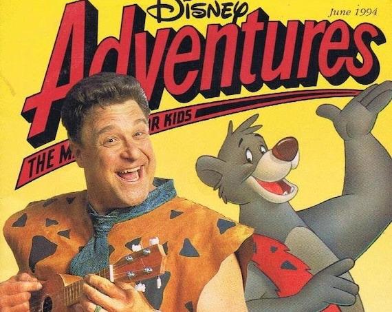 Disney Adventure Christmas Magazine June 1994 John Goodman Flintstones TaleSpin