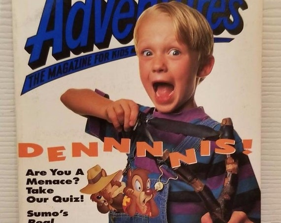 Disney Adventure Magazine Aug. 1993 Dennis the Menace & Chipmunks Cover