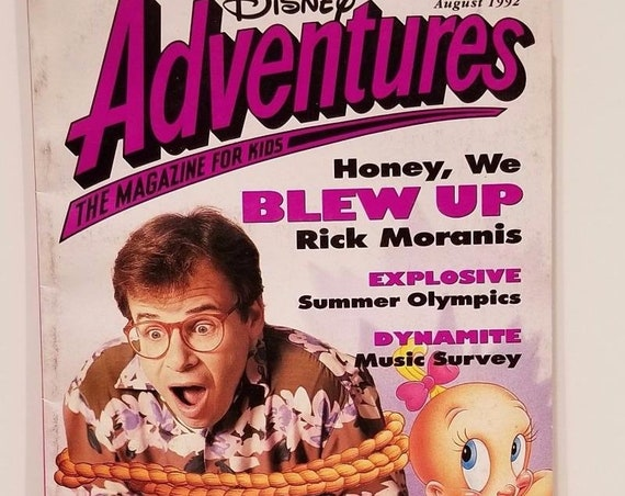 Disney Adventures Magazine Aug. 1992 Rich Moranis Cover Honey We Blew Up Kids