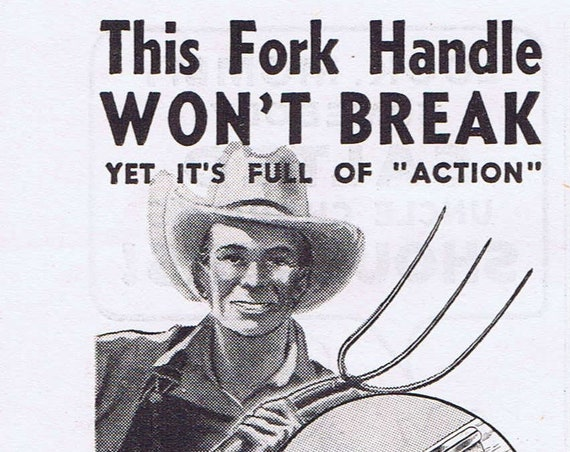 1940 Union Fork and Hoe Company and other Farm Original Vintage Advertisements