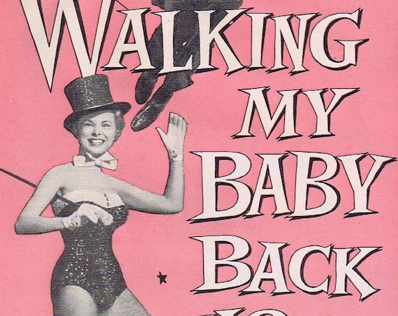 Walking My Baby Back Home 1953 Original Vintage Movie Ad with Donald O'Connor and Janet Leigh