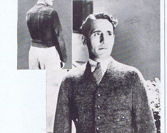 1935 Gantner Clipper Men's Sports Jacket with Victor Jory or Waterman's Ink Pens Original Vintage Advertisement