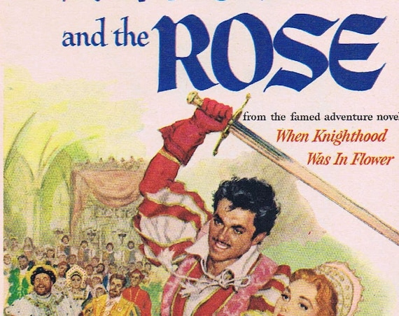 Walt Disney's Sword and the Rose 1953 Original Vintage Movie Ad with Richard Todd and Glynis Johns Neat Art