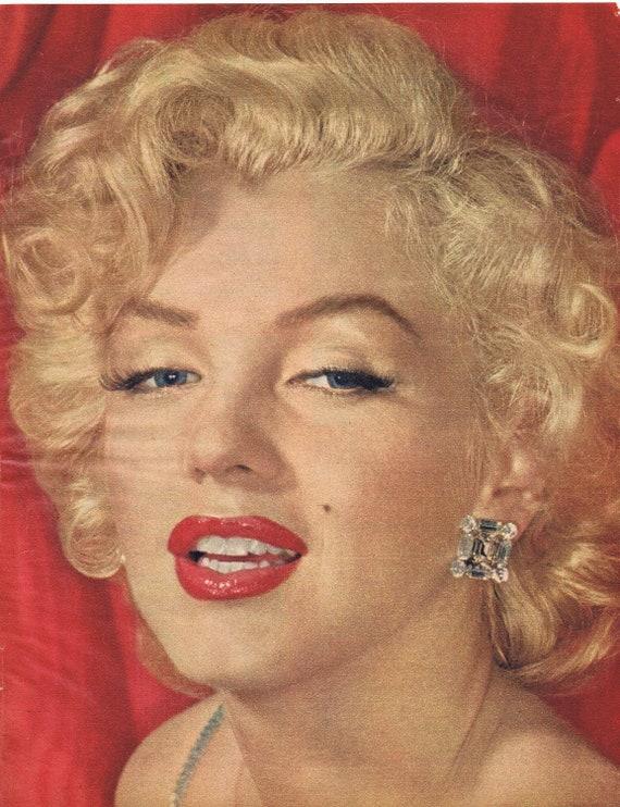 Beautiful Marilyn Monroe Nice Color 1961 Vintage Magazine Photo