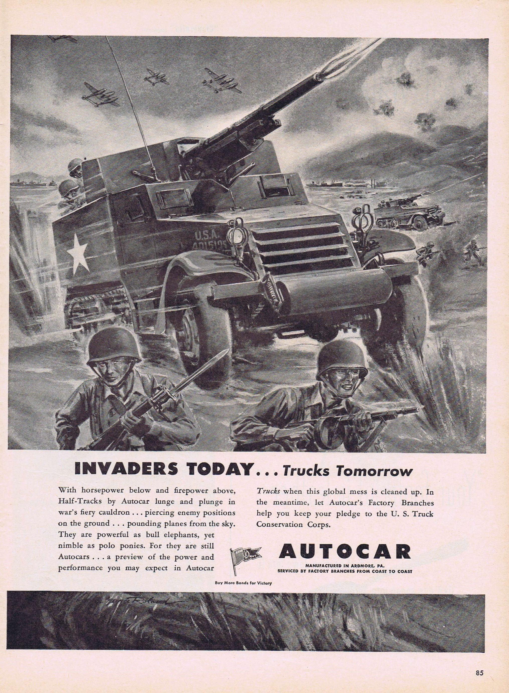 Autocar Trucks Drawings Truck Wiring Diagrams Ww Military Half Action Drawing Original Etsy 2031x2764