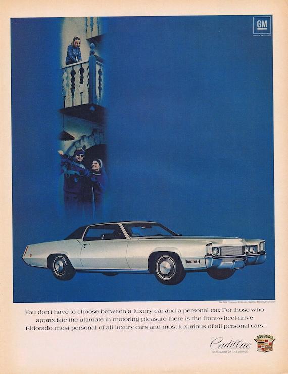 1969 Cadillac Fleetwood Eldorado or Paisano Grape Wine Original Vintage Advertisements
