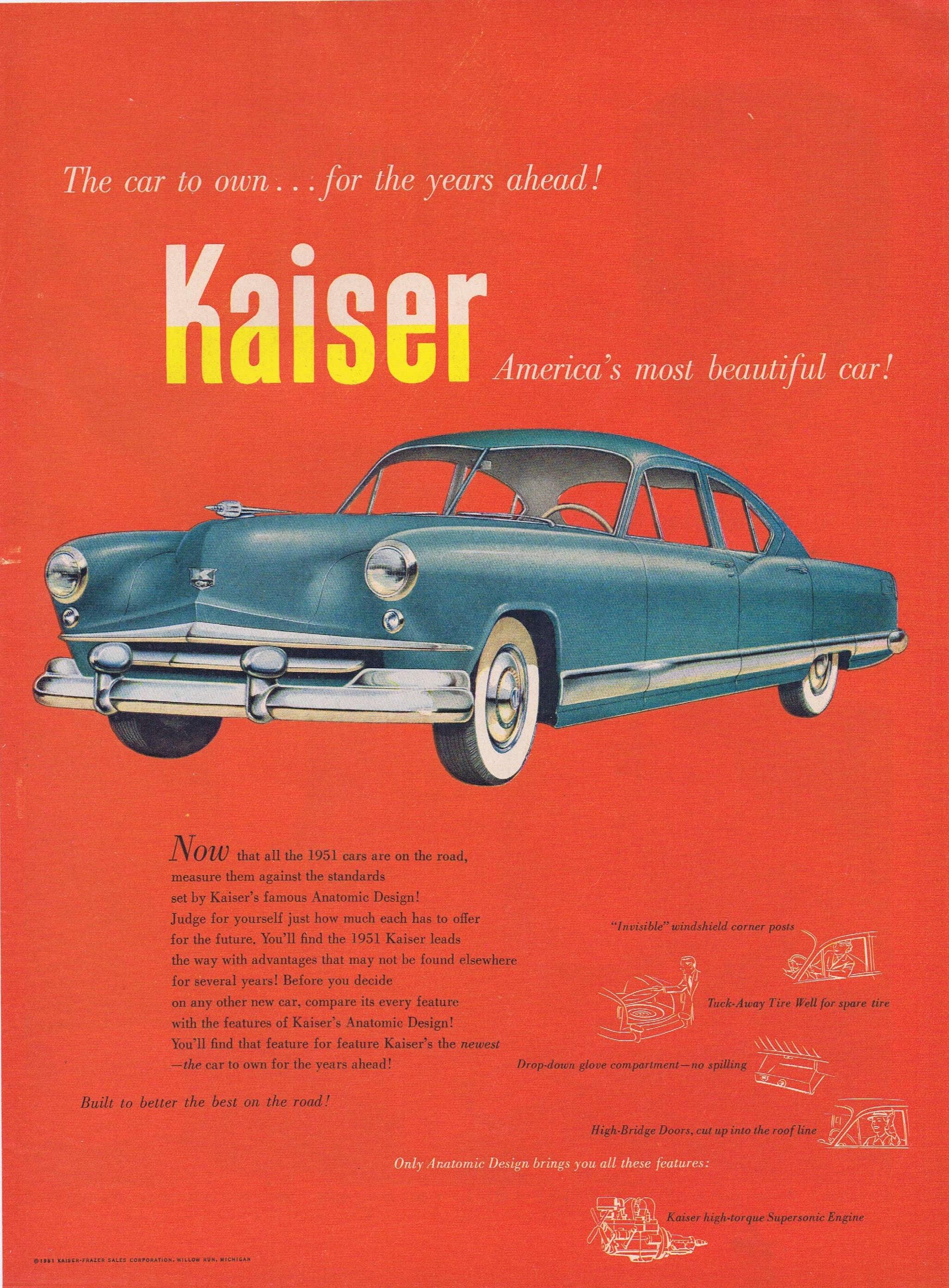 1951 Kaiser American S Most Beautiful Car Original Vintage