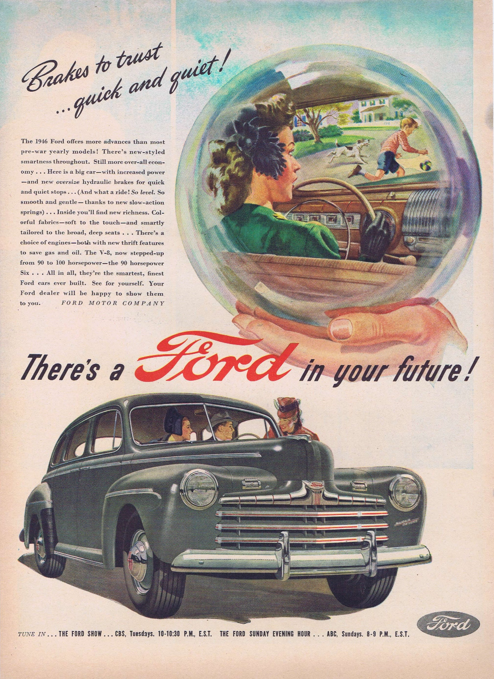 1946 Ford Automobiles with Brakes to Trust Original Vintage