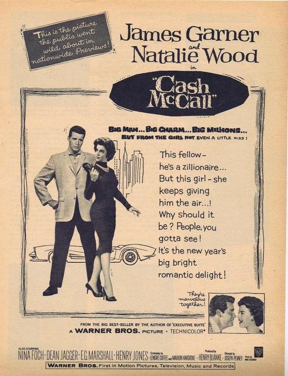 Case McCall 1960 Natalie Wood and James Garner original movie ad